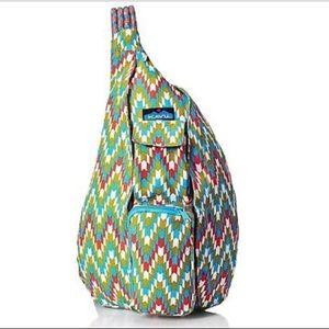 KAVU Rope Backpack One Size Garden Tile